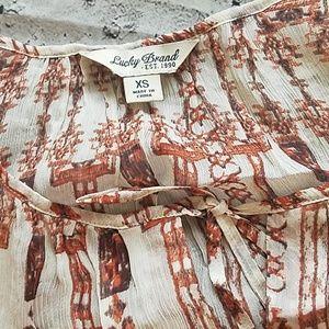 Lucky Brand Tops - SHEER BOHO STYLE LUCKY BRAND